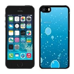 Beautiful Unique Designed iPhone 5C Phone Case With Water Bubbles Illustration_Black Phone Case