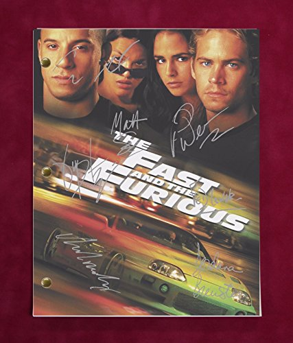 "THE FAST AND THE FURIOUS MOVIE SCRIPT W/ REPRO SIGNATURES DIESEL, WALKER ""C3"""