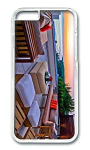 MOKSHOP Adorable Beach Outdoor Lounge Hard Case Protective Shell Cell Phone Cover For Apple Iphone 6 Plus (5.5 Inch) - PC Transparent