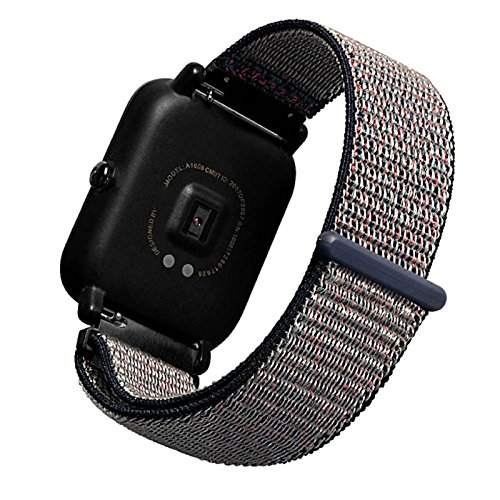 Owill Magic Sticker Canvas Strap Wrist Band For Huami Amazfit Bip Youth Watch, Size:23x 2 x0.2CM (Multicolour B)