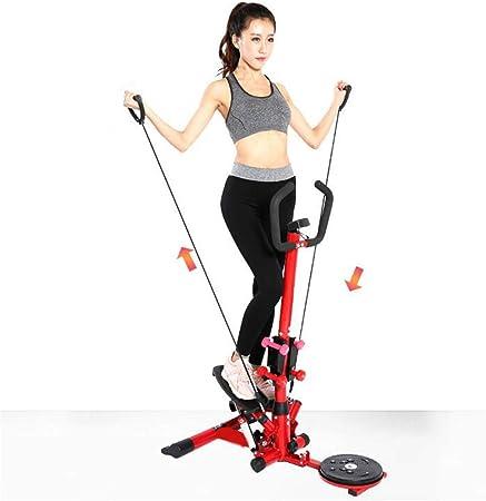 GU YONG TAO Máquina Paso a Paso Twist Fitness 2 en 1, diseño silencioso, Resistente y Duradero, con Mancuernas, Manillar y Monitor LCD, máquina de peldaños de Escalera: Amazon.es: Hogar