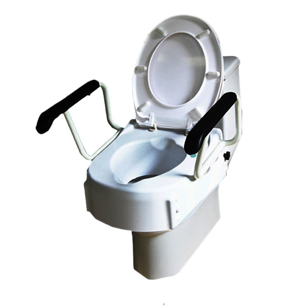 GAOJIAN Elderly Toilet Raised Mats Elderly Postoperative Toilet Toilet Disabled Toilet Seat Stool Chair With High Armrest Bearing capacity of 150kg Old man Toilet Increase the pad