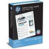 HP Printer Paper, Office20 Paper, 8.5 x 11, Letter Size, 20lb, 92 Bright, 1 Ream / 500 Sheets (172160R) Acid Free Paper