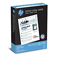 HP Printer Paper, Office Ultra White, 20lb, 8.5 x 11, Letter, 92 Bright, 500 Sheets / 1 Ream (172160R), Made in the USA