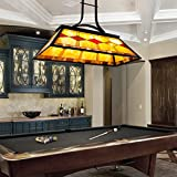 CO-Z Hanging Pool Table Light Fixture for Game Room Beer Party, Ball Design Metal Billiards Light with 3 Lights, Suitable for 7~9 Foot Pool Tables