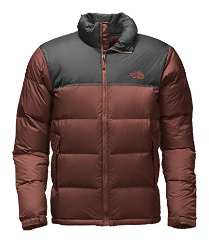 The North Face Men's Nuptse Jacket (X-Large, Sequoia Red/Asphalt Grey)