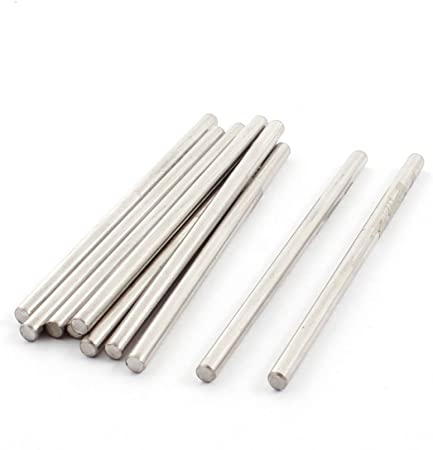 10/pcs 50/x 2.5/mm Argent/é Tige en acier inoxydable essieu Rod pour RC car