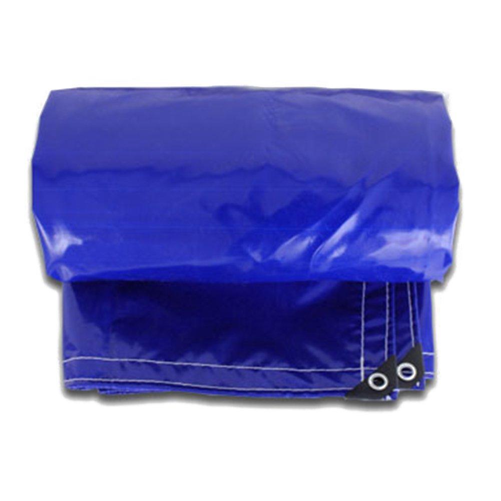 CHAOXIANG ターポリン ポンチョ 厚い 屋外 日焼け止め 消毒剤 耐寒性 軽量 PVC、 550G/㎡、 12サイズ サンシェードテントタープ (色 : Blue, サイズ さいず : 3 * 3m) B07FXG56HT 3*3m|Blue Blue 3*3m