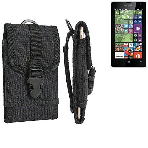 bolsa del cinturón / funda para Microsoft Lumia 532 Dual SIM, negro   caja del teléfono cubierta protectora bolso - K-S-Trade (TM)