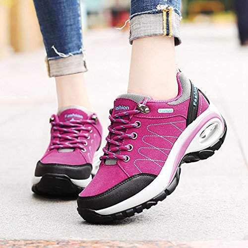 Cybling Casual Athletic Womens Outdoor Scarpe Da Trekking Per Alpinismo Walking Running Rose