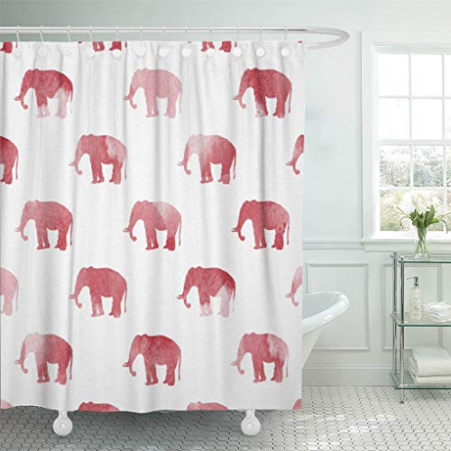 Semtomn Shower Curtain Alabama Red Elephant Large 72
