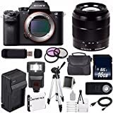 Sony Alpha a7S II a7S Mark II a7SII ILCE7SM2/B Mirrorless Digital Camera (International Model no Warranty) + Sony E-Mount SEL 18-55mm Zoom Lens (Black) + 49mm Filter Kit 6AVE Bundle 21