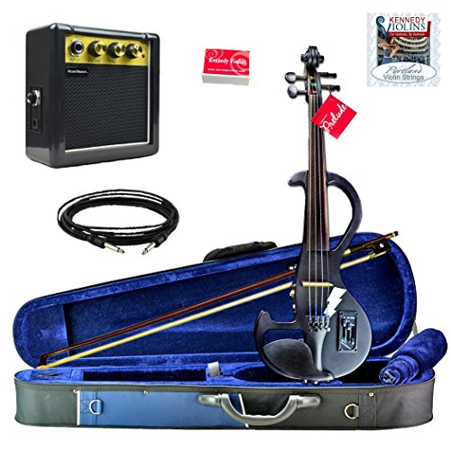 Bunnel Shredder Clearance Electric Violin (Jet Black) by Kennedy Violins