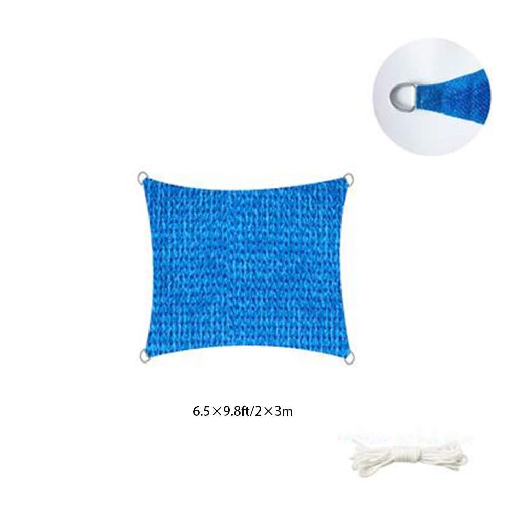 JIAYUAN Vele ombreggianti, rettangolo Parasole Vela con Acciaio Inossidabile Hardware D Anelli, Blocco UV per Giardino Patio Esterno, Sabbia (Dimensioni   6.1×4.8m 20×16ft)