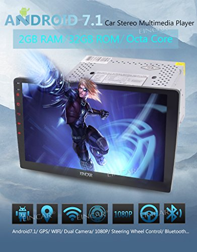 Android 7.1 OS Car Radio Stereo Universal Double 2 Din Head