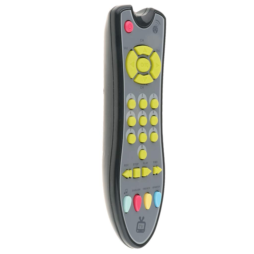 MagiDeal Baby Parent Interaction Music Number TV Remote Control Electric Learning Toy