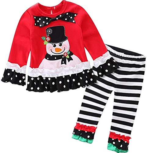 Baby Girls 2 Pieces Christmas Santa Long Sleeve