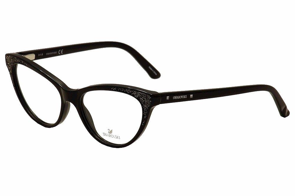 SWAROVSKI Eyeglasses SK5174 001 Shiny Black 54MM