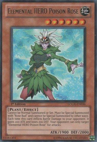 Amazon.com: Yu-Gi-Oh! - Elemental HERO Poison Rose (LCGX ...