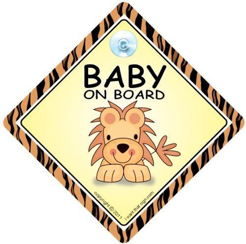 Bebé cartel con ventosa para coche, diseño de León, diseño ...