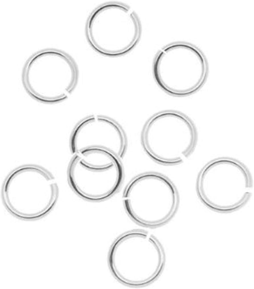 BeadaholiqueCA 10-Piece Sterling Jump Lock Rings Silver 6mm 18-Gauge