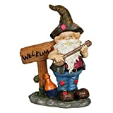Cheap Exhart Redneck Gnome with Welkum Sign Garden Statue, Resin, 9″ L x 5″ W x 11″ H