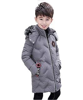 b316e9dcf0823 キッズ ダウン コート ジャケット ファー フード付き 男の子 ボーイズ 子供 ロング丈 防寒 防風 中綿 アウター