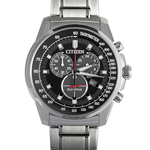 Citizen Mens Black Dial Watch - Citizen Brycen Chronograph Black Dial Men's Watch AT2370-55E