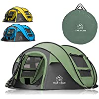 STAR HOME Pop up Tents Family Camping Tents Large Instant...
