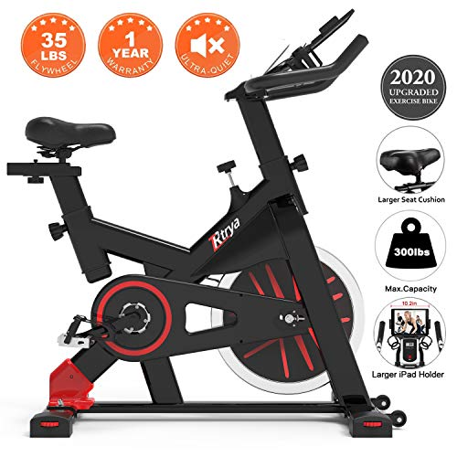 TRYA Indoor Exercise Bike Stationary, Belt Drive Cycling Bikes with Ipad Mount and LCD Monitor for Home Workout Bike…