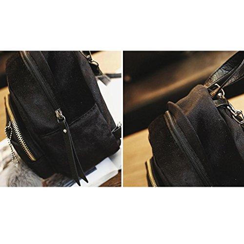 Moda A Borsa Zaino Beauty Trave Donna Zaini Ball Tracolla Nero Schoolbag Vintage Mano Zainetto Neutral Top Borsetta Cartella Fur qt5xY5wIr