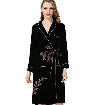baa0a466a9 Amazon.com  Sunshine Fashion and Simple Silk Long Sleeves Lingerie Pajamas