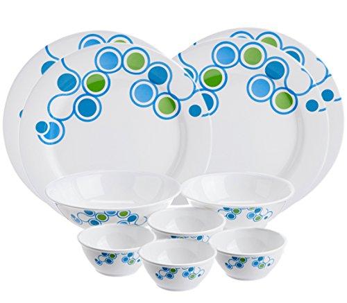 TP-3700-T175 Tupperware Azure Dinner Set (10-pieces) 4-pieces Dinner Plates, 4-pieces Small Bowls, 2-pieces Serving Bowls