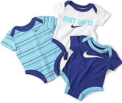 Nike JDI Stripe 3 Pack Bodysuit Set T Shirt Garçon: Amazon