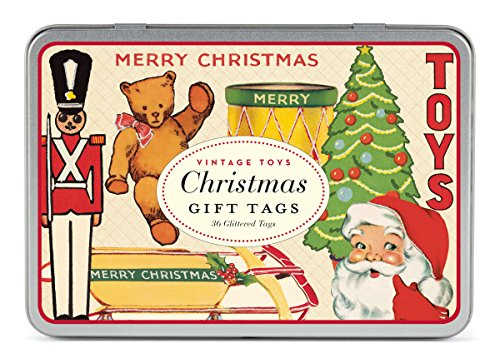 tter Gift Tags Christmas Toys 36 Assorted Gift Tags Packaged in a Tin ()