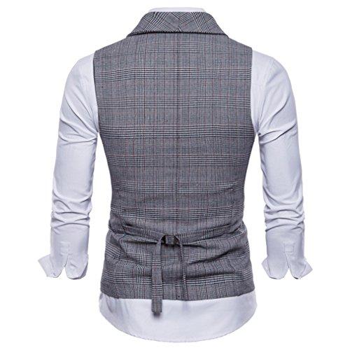 Suit À Boutonnage Man Clair Gris Casual Robe Vêtements Coupe Vest Double Fit Tops British Mxssi Pour Slim wqAdxIX0I