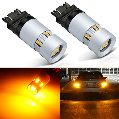 JDM ASTAR 2400 Lumens Extremely Bright 3057 3156 3157 4057 4157 Anti Hyper Flash Built-in load resistor Amber Yellow Turn Signal LED Bulbs