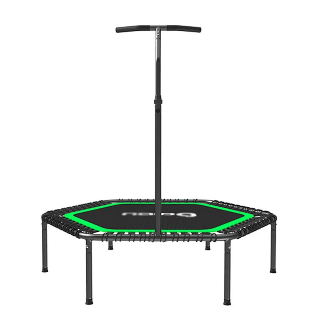 トランポリン トランポリン成人用ジムトランポリンホームヨガトランポリン屋内用減量トランポリン150kg (Color : Green, Size : Diameter 133*35cm) Diameter 133*35cm Green B07KW3MGN9