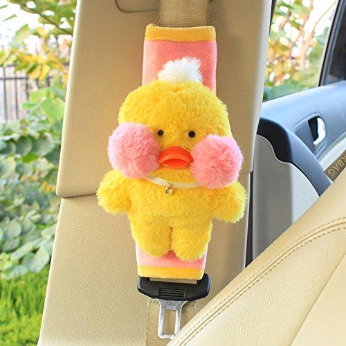 - seemehappy 2 Pcs Mini Plushies Car Seatbelt Shoulder Pads Covers Seat Belt Cushions (Duck)