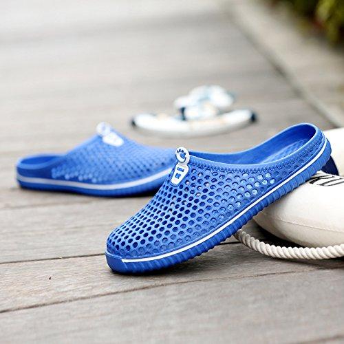 Jardin Taille Chaussures EVA Femmes ZHRUI Évider Bleu Confortable coloré Léger 39 EU Respirant Rouge de Sabots AExnqRU