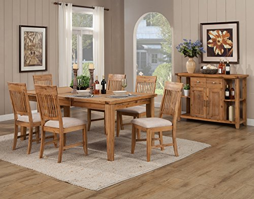 Alpine Furniture 8812-01-02/3 Aspen 7 Piece Dining Set, Iron Brush Antique ()