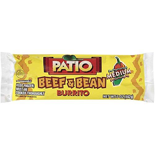 Price comparison product image Conagra Patio Medium Beef and Beans Burrito,  5 Ounce -- 24 per case.