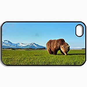 Personalized Protective Hardshell Back Hardcover For iPhone 4/4S, Bear Design In Black Case Color