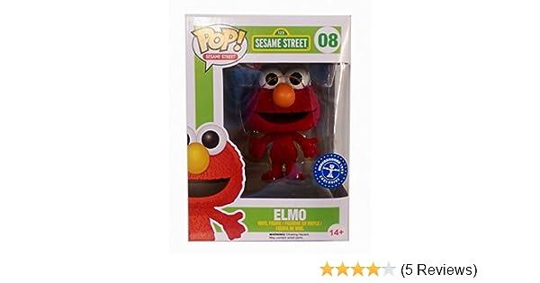 "EXCLUSIVE FLOCKED ELMO 3.75/"" VINYL POP FIGURE FUNKO SESAME STREET"