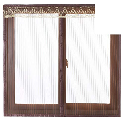 JFFFFWI Silent, Magnetic, Windows Rideau/Anti-Mosquito net Rideau/Magnetic Stripe, [The dust-], Windows Rideau/Kitchen Bedrooms Glazing - F 110 x 150 cm (43 x 59 Customs)