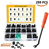 299 Pcs Auto Push Clips & Fasteners Set - 18 MOST Popular Sizes Plastic Push Rivets Clips Kit -Car Door Panel Tirm Clips For BMW,TOYOTA, Honda, Benz, NISSAN, Subaru, Mazda(Not Only These Cars)
