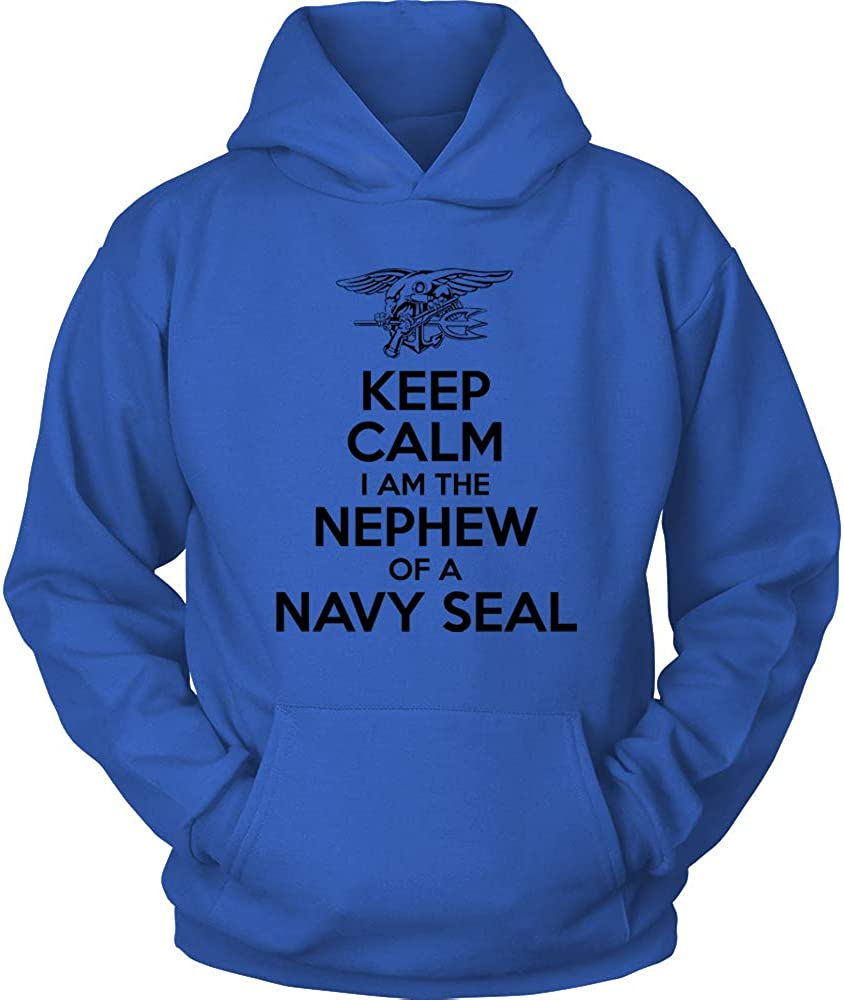Navy Seal Uncle Shirt Keep Calm I am The Nephew of a Navy Seal US Navy Nephew Hoodie Blue US Navy Hoodie