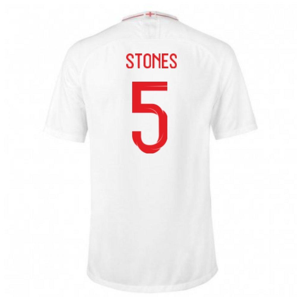 売れ筋商品 2018-2019 XL England Home Nike Nike Football Shirt (Stones 5) B07DK29FNV 46-48