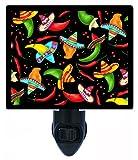 Night Light - Chili Pepper Hats - Southwest - Kitchen - LED NIGHT LIGHT