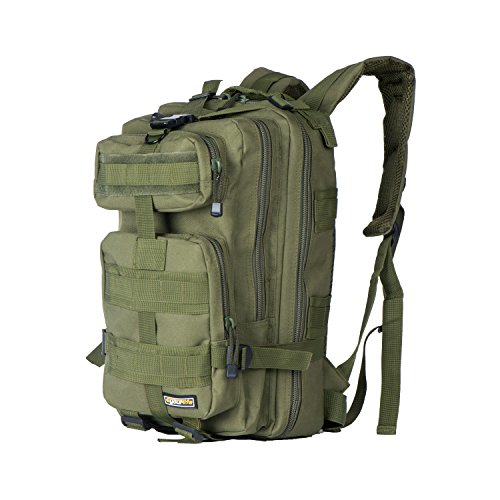 Eyourlife 40L Tactical Backpack ,Sport Military Rucksacks for Outdoor Hiking Camping Trekking Hunting fishing Army Green Black Camouflage (Camouflage Hiking Backpack)